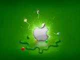 والپیپر لوگوی سبز اپل