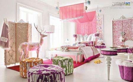 دکور اتاق خواب دخترانه girl kids bedroom