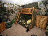 دکور ارتشی اتاق خواب پسر بچه