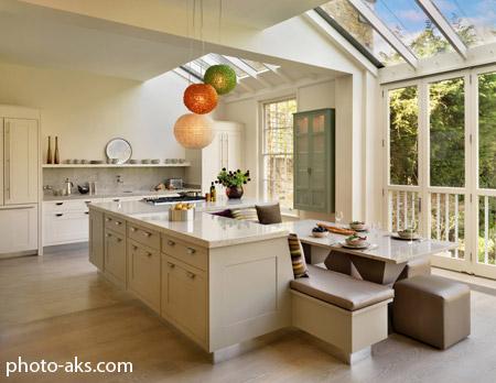 دکوراسیون آشپزخانه جزیره ای اپن open kitchen decoration