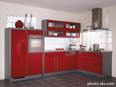 دکوراسیون آشپزخانه ایرانی قرمز dekorasion ashpazkhane irani