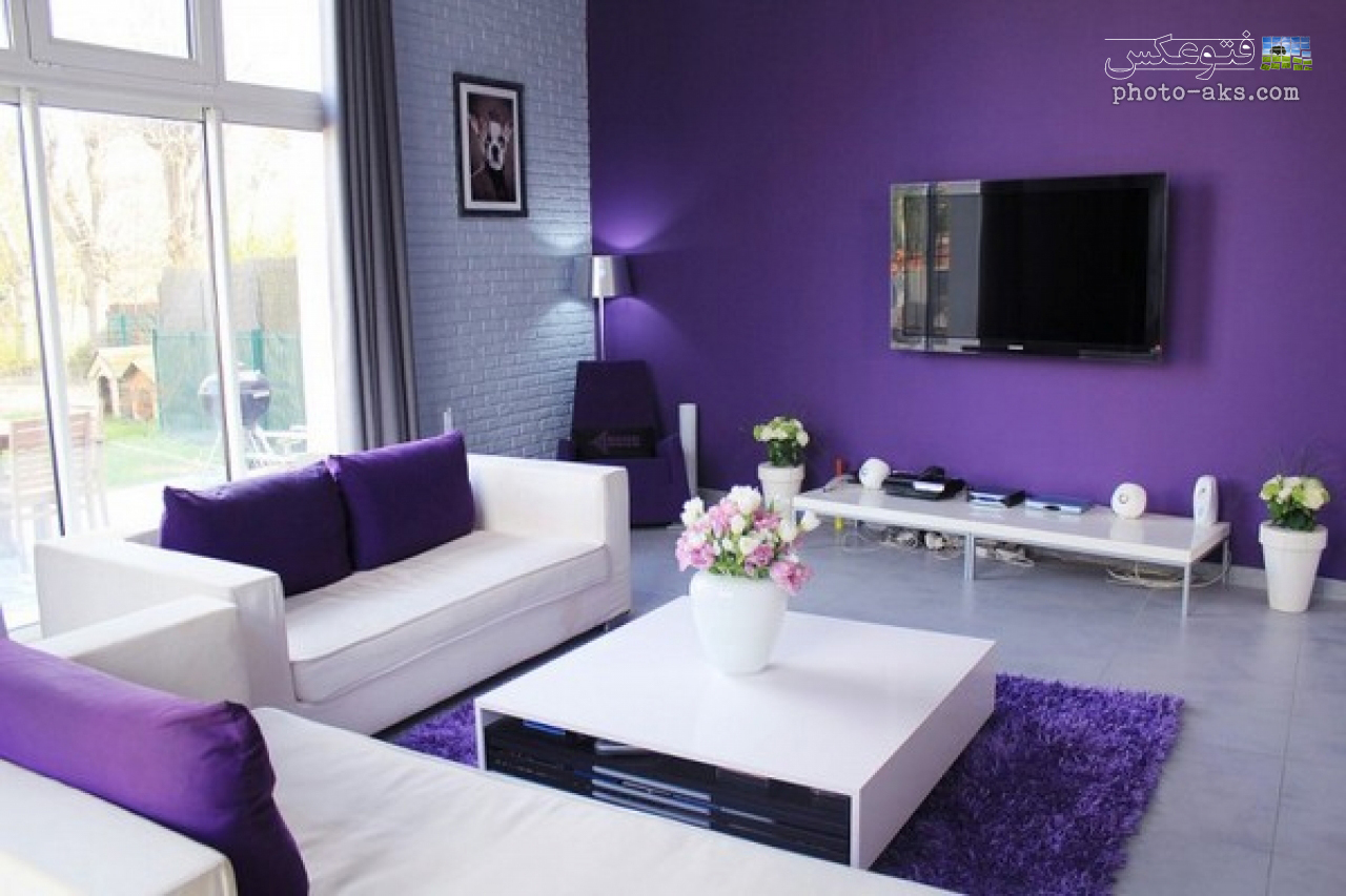 violet home decoration