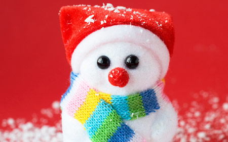 عروسک آدم برفی بامزه cute snowman wallpaper