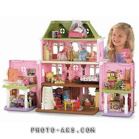 خانه عروسکی صورتی pink doll house