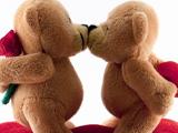بوسه خرس های عروسکی