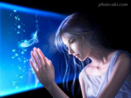تصویر فانتزی رویایی دختر aks fantezi dokhtar