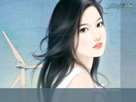عکس دختر زیبای کارتونی beautiful fantezi girl