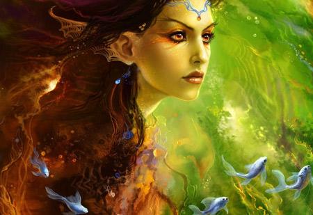 عکس زیبا از چهره دختر فانتزی fantasy girl princess
