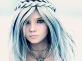 عکس سه بعدی انیمه از دختر زیبا