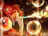 والپیپر دختر ژاپنی و حباب صابون