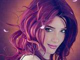 چهره زیبای دختر مو قرمز