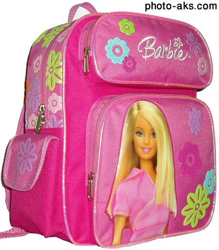 کیف مدرسه طرح باربی دخترانه barby girl school bag