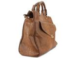 کیف دستی خاکستری سوسماری