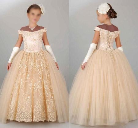 مدل لباس عروس کودکانه جدید wedding dress girls teens