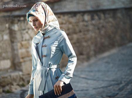 مدل مانتو آبی دانشجویی student blue long dress