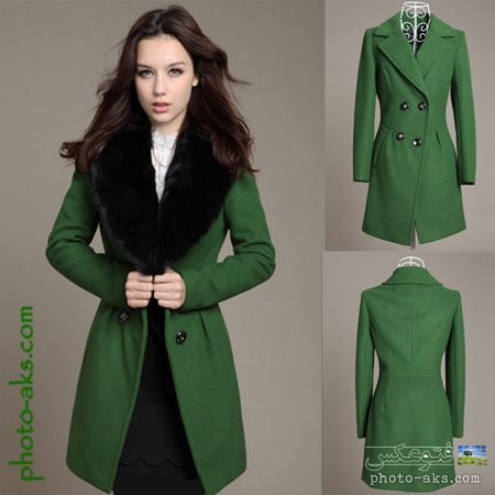 مدل پالتو فشن سبز fashion green overcoat
