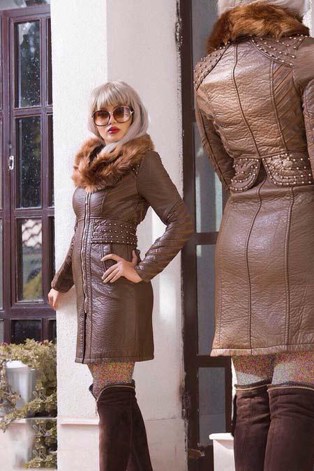 پالتو چرم زنانه شیک model palto charm