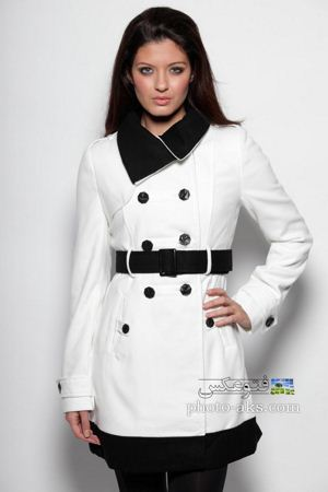 پالتو شیک سفید زنانه palto shik sefid