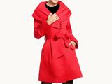 مدل پالتو پاییزی قرمز رنگ