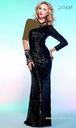 مدل ایتالیایی لباس مجلسی مشکی long women dress