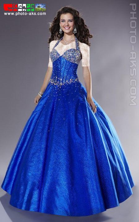 جدیدترین لباس های مجلسی نامزدی blue shine prom dress