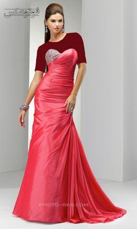 لباس زنانه مجلسی بلند قرمز red prom dresses