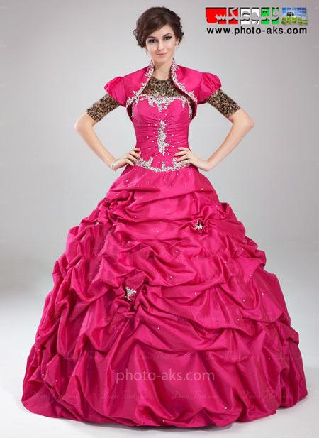 لباس مجلسی ارغوانی 2014 lenas majlesi pofi