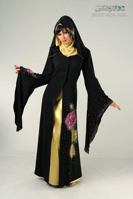 لباس مجلسی عربی سیاه lebas majlesi arabi