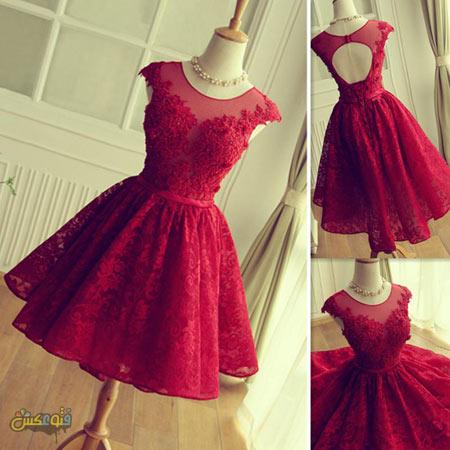 لباس مجلسی دخترانه قرمز red party dresses