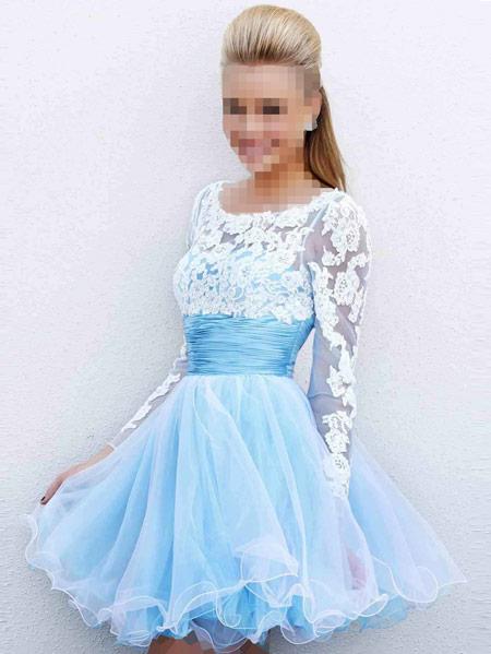 پیراهن مجلسی کوتاه عروسکی women short prom dress