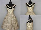 عکس مدل لباس مجلسی طلایی