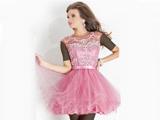 لباس کوتاه دخترانه عروسکی صورتی