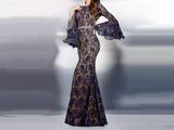 مدل لباس مجلسی بلند تمام گیپور