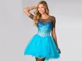 لباس دخترانه عروسکی پفی آبی