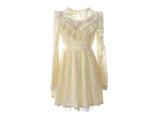 لباس توری کوتاه دخترانه سفید