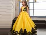 لباس مجلسی کودکانه زرد