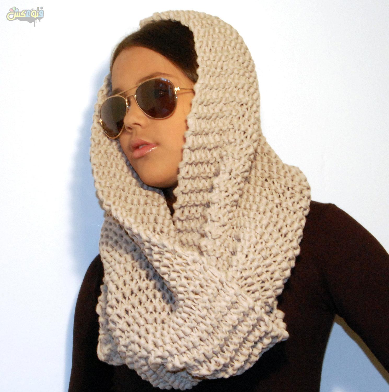 Image result for مدل شال و روسری بافتنی