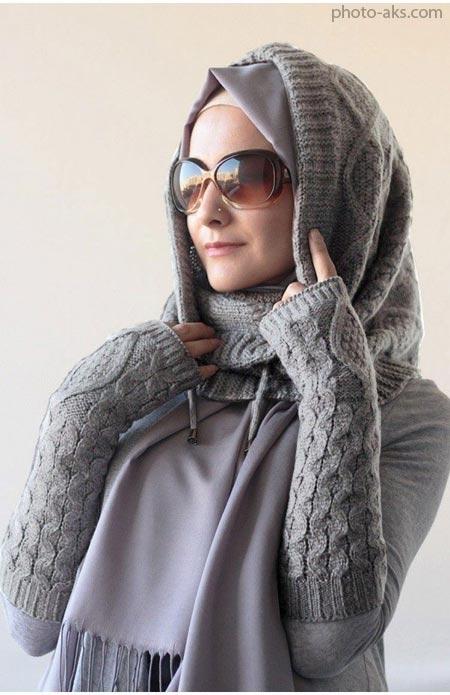 مدل شال زمستانی دخترانه winter hijab style