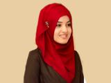 مدل شال قرمز زیبای ترکی