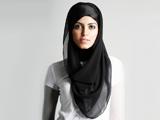 مدل روسری شال مشکی باحجاب