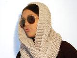 مدل شال بافتنی دخترانه زمستانی