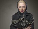 مدل روسری نخی تابستانی مشکی