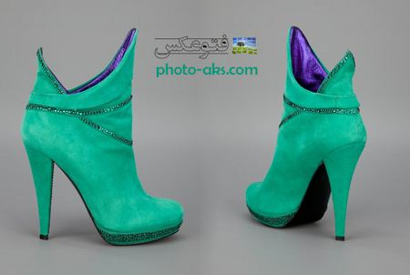 مدل پوتین سبز دخترانه boot green sport