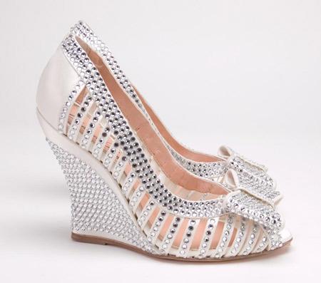 مدل کفش عروس نگین دار kafsh aroos negindar