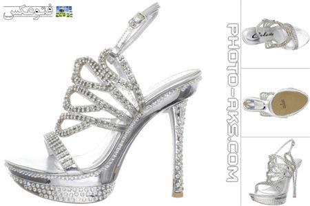 کفش صندل سفید زنانه kafsh pashne bolamd