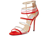 کفش پاشنه بلند مجلسی بنددار قرمز