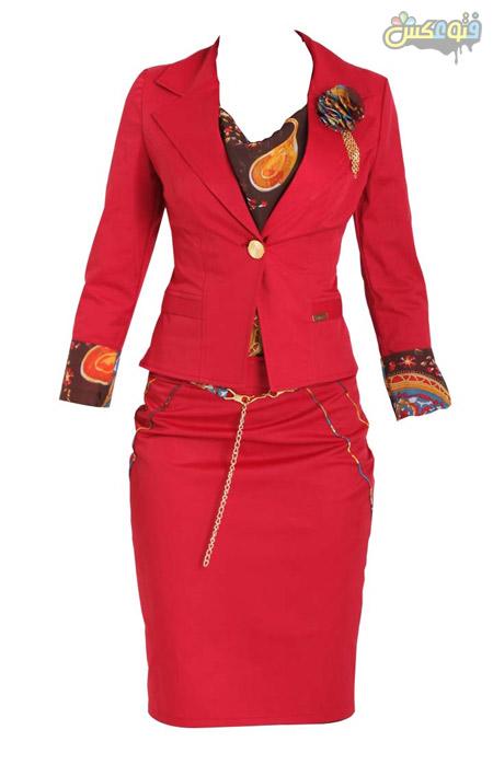 کت و دامن زنانه قرمز kot daman germez