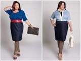 مدلهای بلوز دامن خانم های چاق