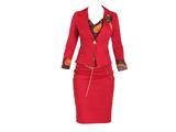 کت و دامن زنانه قرمز