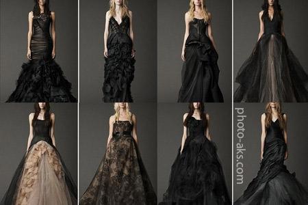 مدل لباس های عروس سیاه black weddong dress models